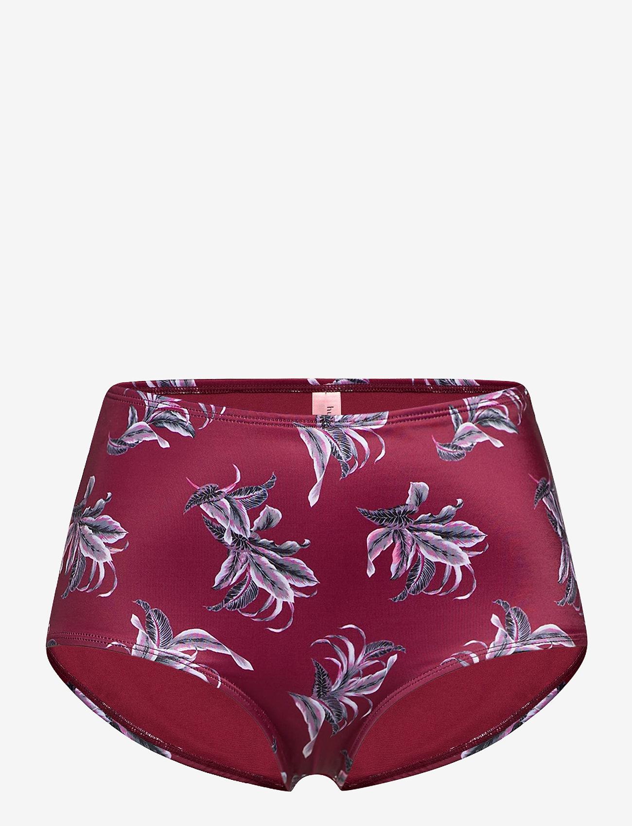 Hunkemöller - Tropic Glam short hw - bikinibroekjes met hoge taille - red fruit - 0