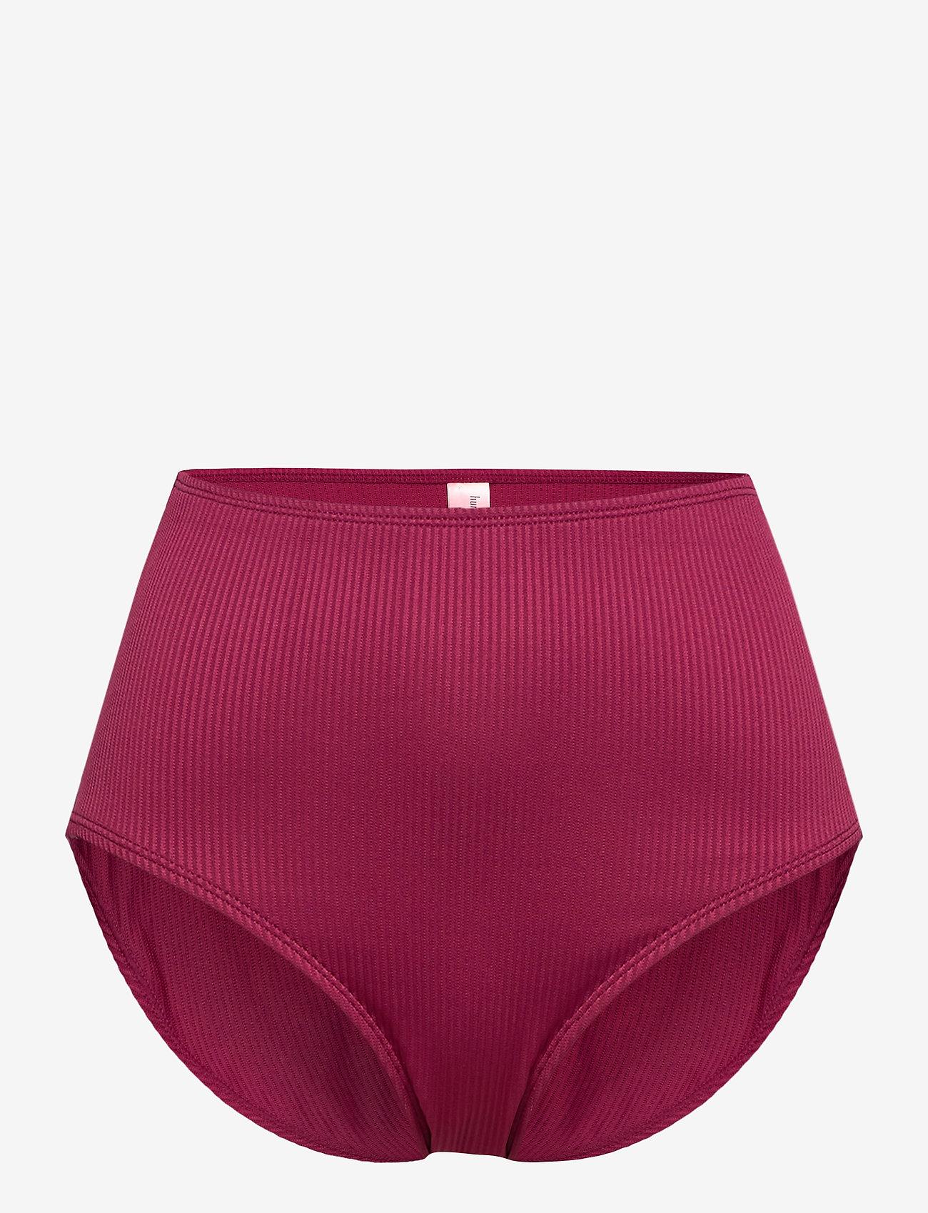 Hunkemöller - Golden rings rio hw - bikinibroekjes met hoge taille - red fruit - 0