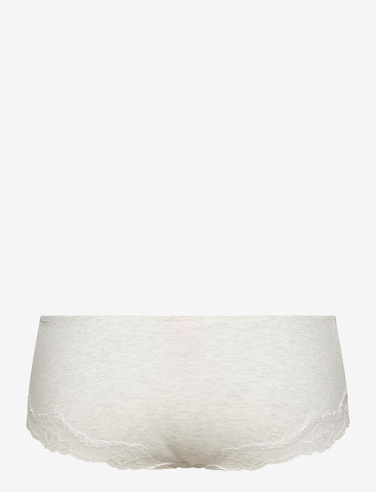 Hunkemöller - Secret Lace Cotton boxer r - slips - grey melee - 1