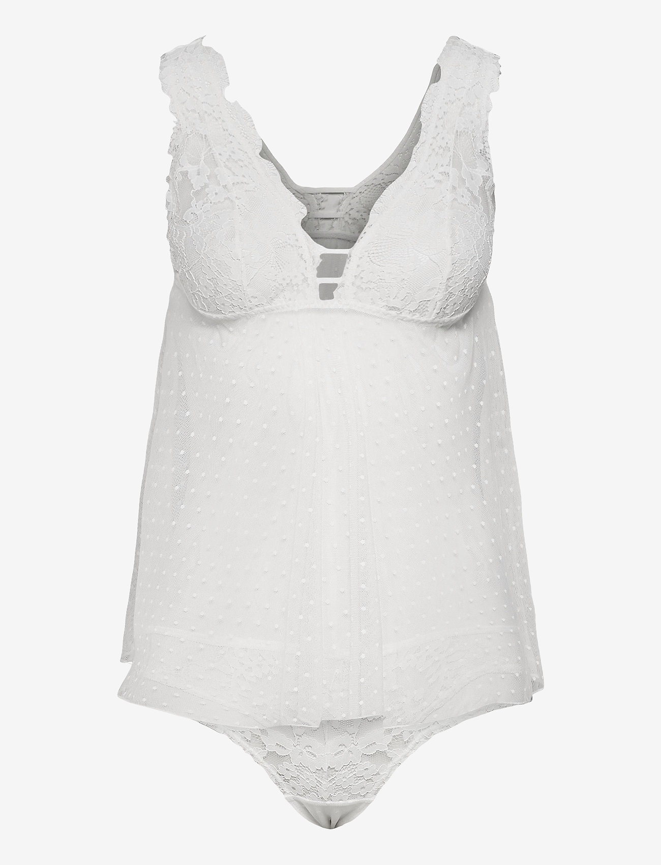 Hunkemöller - Tabatha camiset - bodies en onderjurken - snow white - 0