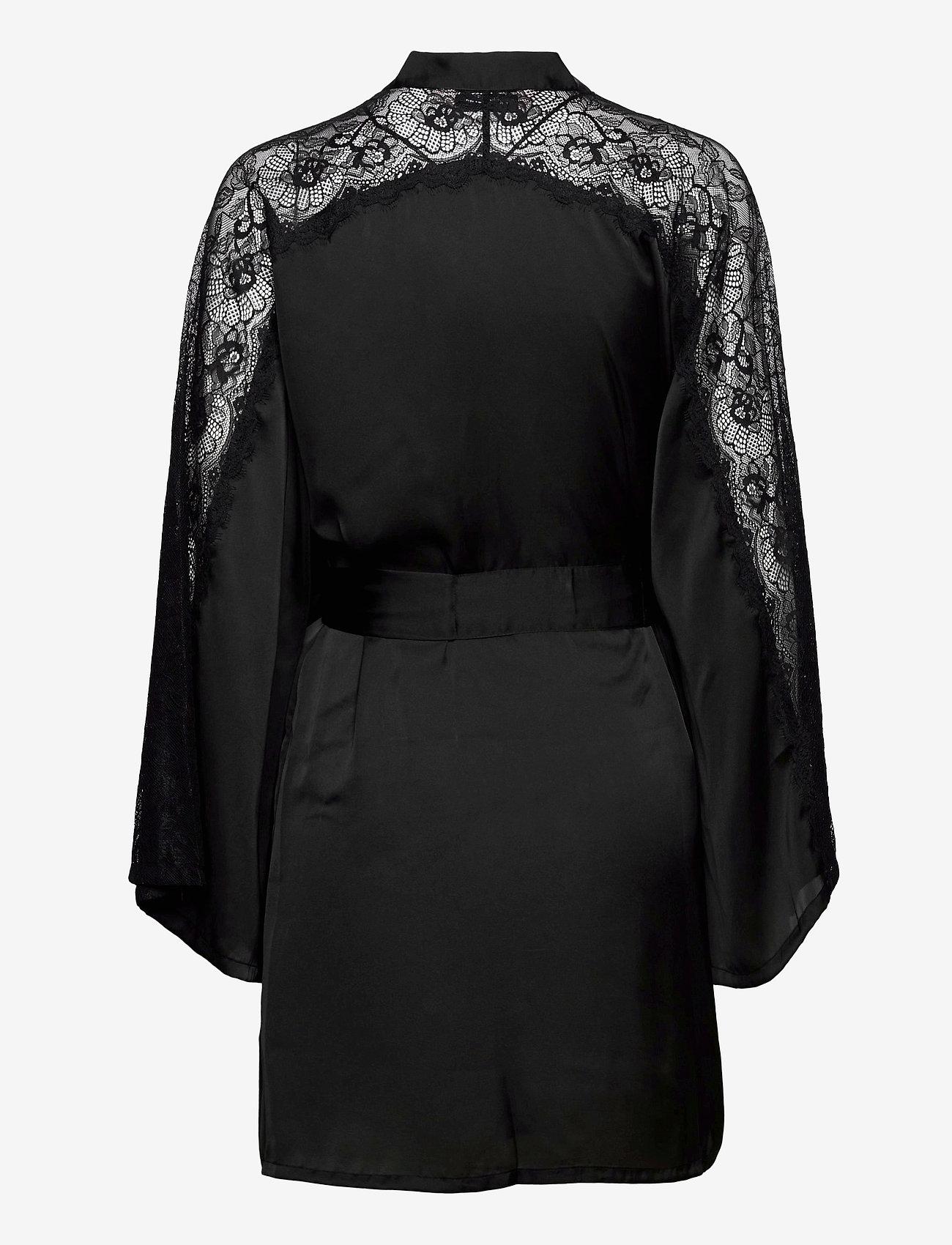Hunkemöller - Kimono Satin Lace Sleeve Insert - pegnoirs - black - 1