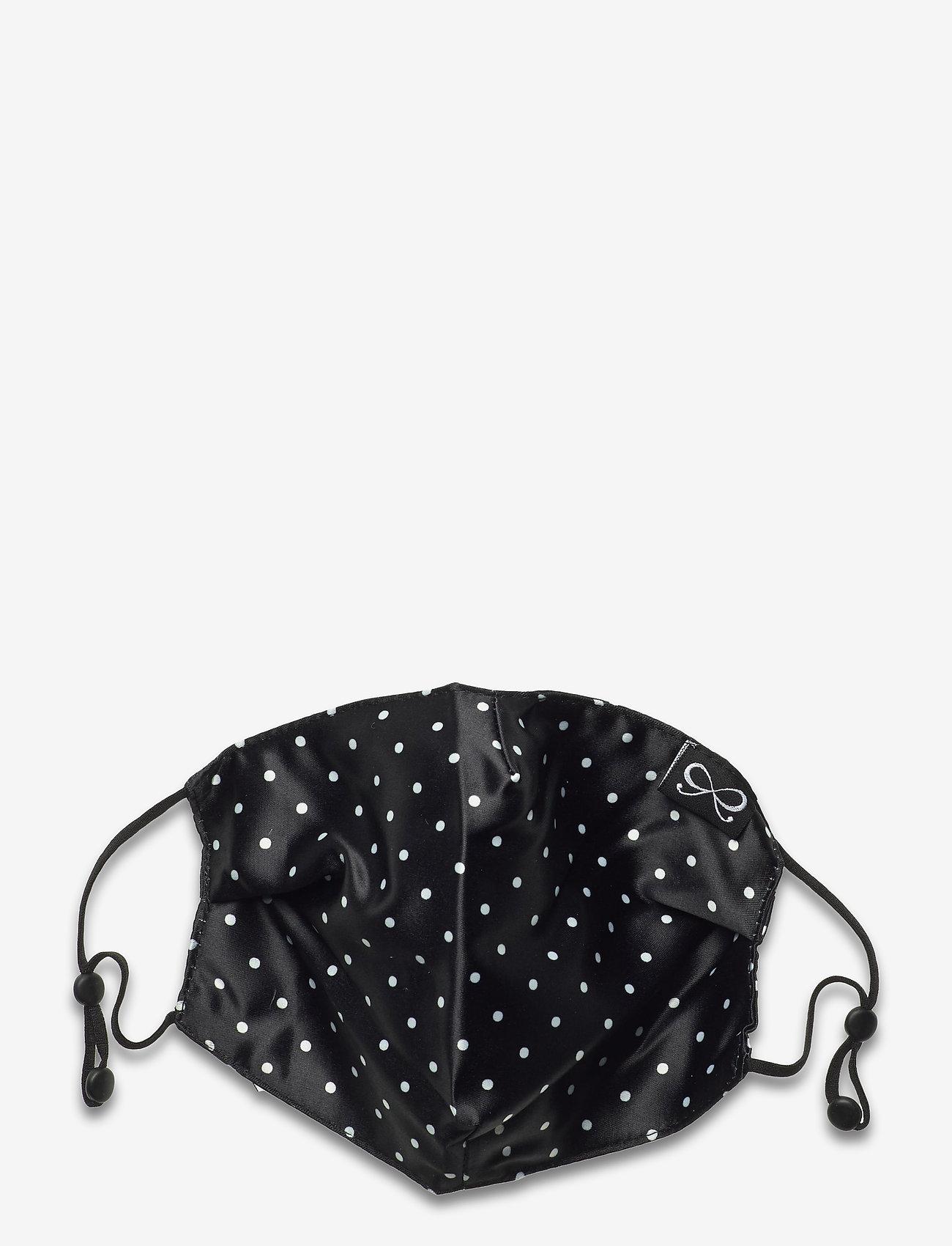 Hunkemöller - Facemask Dot Satin - gezicht maskers - black - 0
