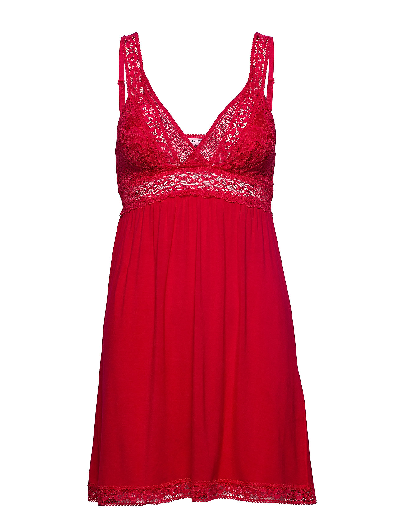 Hunkemöller SD Jersey Graphic Lace - TANGO RED