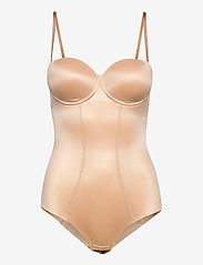 Hunkemöller - Scuba Cupped Body - bodies & slips - rugby tan - 0