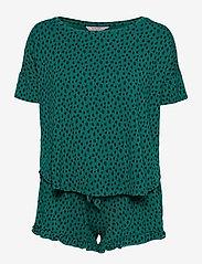 Hunkemöller - PJ Short Top SS Dot Leopa - pyjama''s - everglade - 0