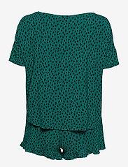 Hunkemöller - PJ Short Top SS Dot Leopa - pyjama''s - everglade - 1