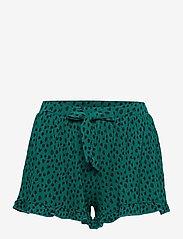 Hunkemöller - PJ Short Top SS Dot Leopa - pyjama''s - everglade - 2