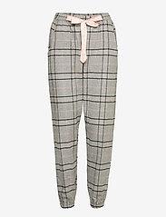 Hunkemöller - Pant Twill Check - pyjama''s - warm grey melee - 0