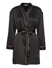 Kimono Hammered Satin Bow - BLACK