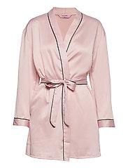 Kimono Hammered Satin Bow - PEACH SKIN