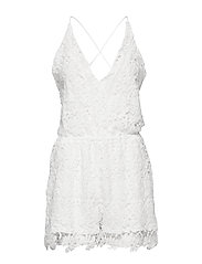 Crochet Playsuit - OFF WHITE