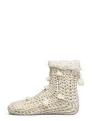 Lurex Short Slipper Sock - OATMEAL MARL