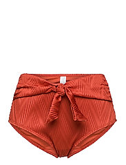 Hunkemöller - Galibi Texture rio hw - bikinibroekjes met hoge taille - cinnebar - 0