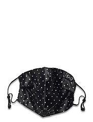 Facemask Dot Satin - BLACK
