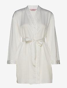 Kimono Hammered Satin Bride - OFF WHITE