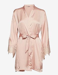 Kimono Satin Big Scallop Lace - ROSE SMOKE