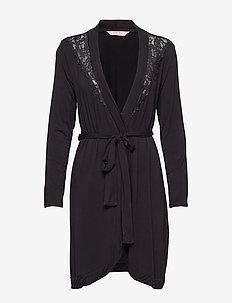 Robe Modal Lace - BLACK