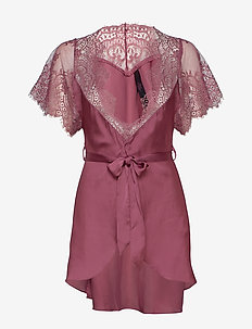 Kimono Cap Sleeve - kylpytakit - rose brown