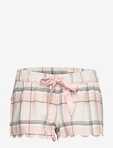 Short Twill Check Scallop - CLOUD PINK