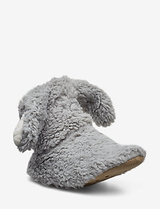 Fluffy Bear Boot - GREY