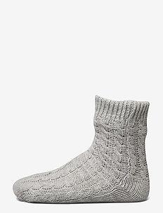 Knit Slipper Sock - GREY