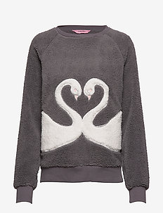 Top LS Fleece Swan - SILVER GREY