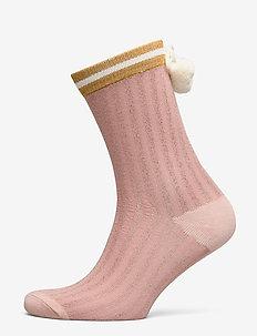 Cosy Sock Lurex Stripe - PINK