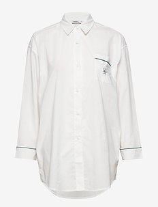 NS LS Menshirt Poplin - OFF WHITE