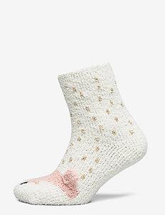 Cosy Sock Sparkle Fox - OFF WHITE