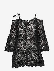 Allover Lace Tunic - BLACK