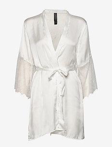 Kimono Satin Lily - bathrobes - snow white