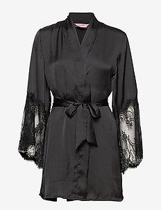 Kimono Satin Lace - BLACK