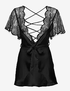 Kimono Satin Coco Cross - BLACK