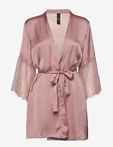 Kimono Satin Lily - bathrobes - pale mauve