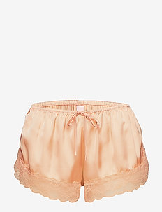 Short Satin Meili - shorts - peach parfait