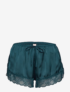 Short Satin Meili - shorts - teal sea