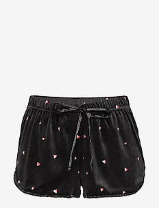 Short Velours Heart - BLACK