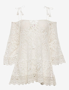 Allover Lace Tunic - OFF WHITE