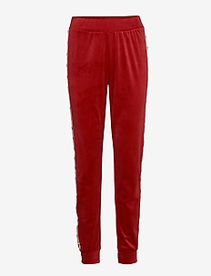 Jogger Velours Heart Tape - RIO RED