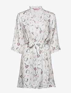 Kimono Woven Print Bride - SNOW WHITE