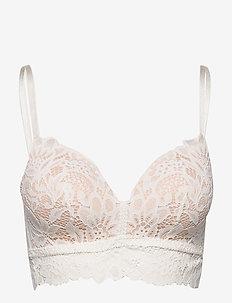 Shiloh non wire d - bralette & corset - snow white
