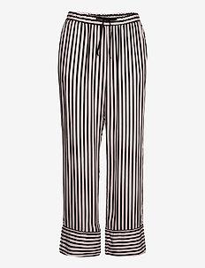 Pant Woven Stripe piping - nederdelar - black