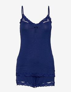 PJ Short Set Mesh Dot - pyjamas - insignia blue