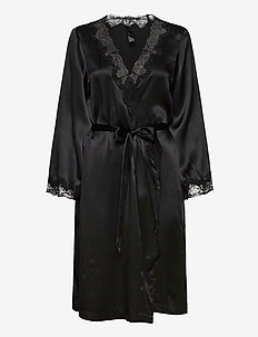 Kimono Silk Lace Trim - kimonot - caviar