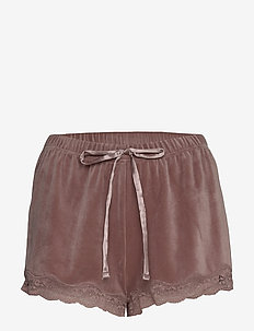 Short Velours Scallop Lace - shorts - burnished mauve