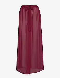 Sheer wrap skirt - strandkläder - red fruit