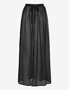 Sheer wrap skirt - beachwear - nero