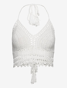 Crochet Croptop - rantavaatteet - off white