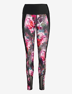Floral Flex HW Legging - leggings - molten lava