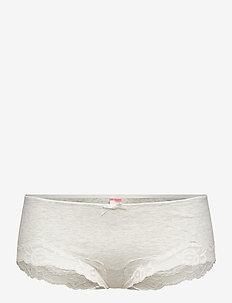 Secret Lace Cotton boxer r - briefs - grey melee